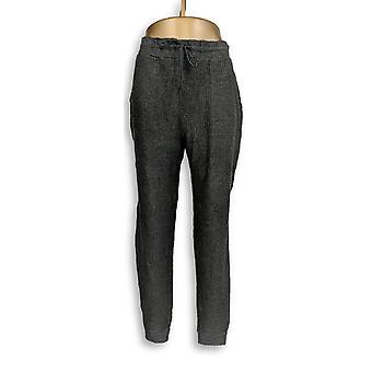 N'importe qui femmes-apos;s Pantalon Brosé Gaufre Jogger charbon de bois Gris A345168