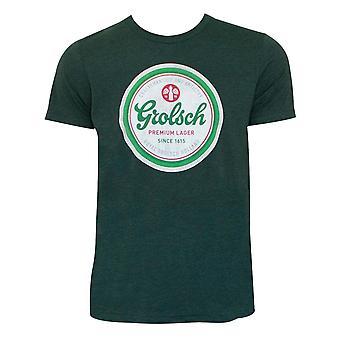 Grolsch bier Cap Logo groene Tee Shirt