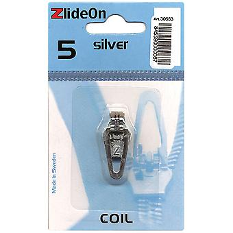 Zlideon Zipper Pull Replacements Coil 5 Silver 3055 3