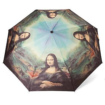 Umbrella automatic Pocket umbrella subject of Mona Lisa
