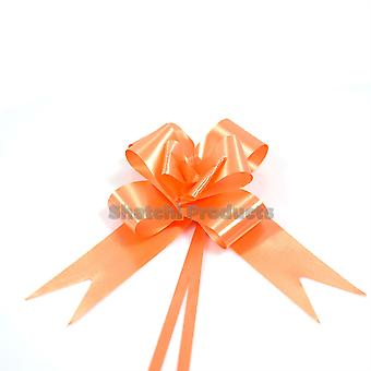 20pcs of 30mm ORANGE Pull Bows, Wedding Anniversary Floral Tributes bouquets Gift decoration