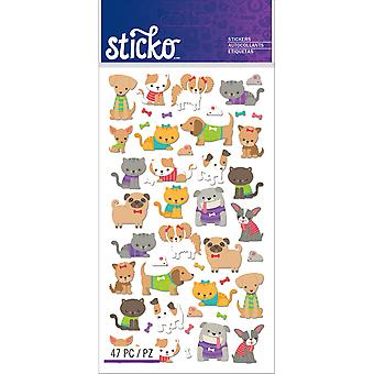 Sticko Stickers-Tiny Cats & Dogs E5201275
