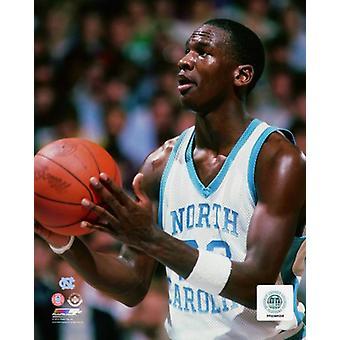 Michael Jordan University of North Carolina Tar Heels Action Photo imprimable
