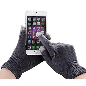 ONX3 Alcatel Pop Up Universal Unisex One Size Winter Touchscreen Gloves For All Smartphones / Tables (Dark Grey)