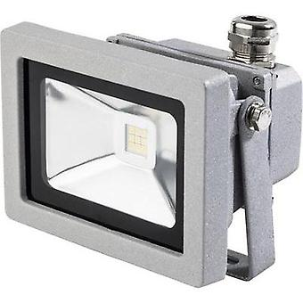 LED outdoor floodlight 12 W Cold white as - Schwabe 46915 Silver