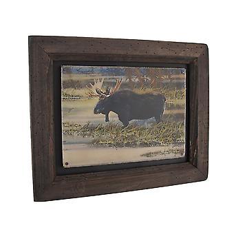 Big Sky Carvers Noord-Amerikaanse eland hout Frame kunst aan de muur