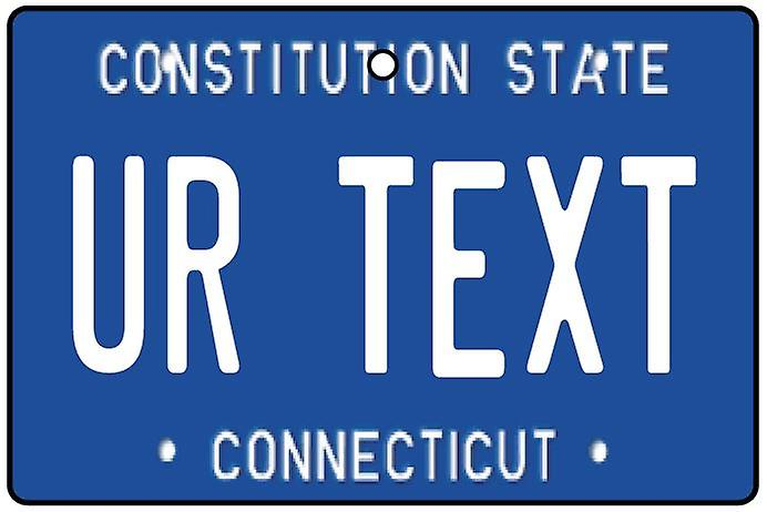 Personalised Connecticut Numberplate Car Air Freshener