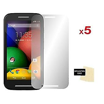 InventCase Screen Protector Guard with Cleaning Cloth (5-Pack) for Motorola Moto E (1st Gen) 2014