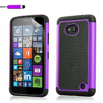 Shock proof case for Microsoft Lumia 640XL + stylus - Purple