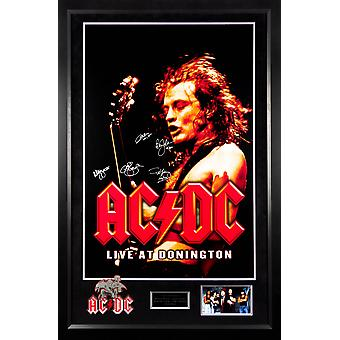 AC/DC Signed Concert Photo Collage Custom Wood Framed