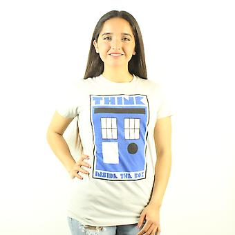 Doctor Who Think Inside the Box Women's Grey T-shirt