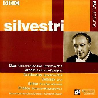 C. Silvestri - Silvestri gennemfører Elgar, Arnold, Tjajkovskij, Debussy, Enescu [CD] USA importerer
