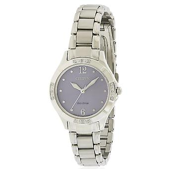 Citizen Eco-Drive Diamond Stainless Steel Ladies Watch EM0450-53 X