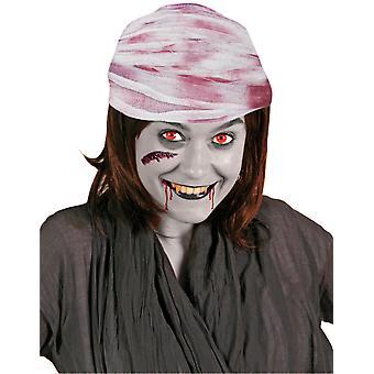 Głowę bandaż bandaż krwawe Halloween 750 cm stowarzyszenie krwi kapelusz