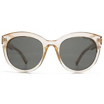 Kurt Geiger Round With Circular Trim Sunglasses In Crystal Pink