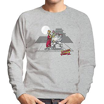 Kryogene Fighter II Futurama Street Fighter mænds Sweatshirt
