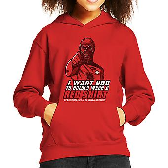 Red Shirt Zombie Star Trek Kid's Hooded Sweatshirt