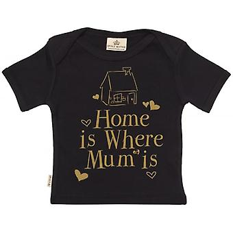 Spoilt Rotten Home Is Where Mum Is Short Sleeve Baby T-Shirt