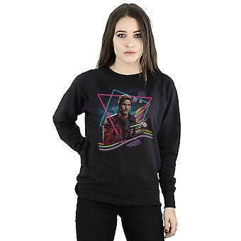 Marvel Women's Guardians Of The Galaxy Neon Star Lord Sweatshirt