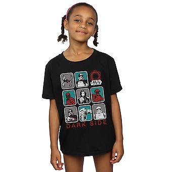 Star Wars piger sidste Jedi mørke Side Multi karakter T-Shirt