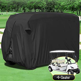 WATERPROOF SUPERIOR BLACK GOLF CART COVER COVERS CLUB CAR, EZGO, YAMAHA, FITS MOST FOUR-PERSON GOLF CARTS