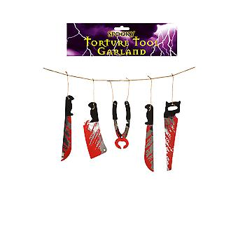 Bloody Torture Tools Garland Halloween Party Decoration 1.80M