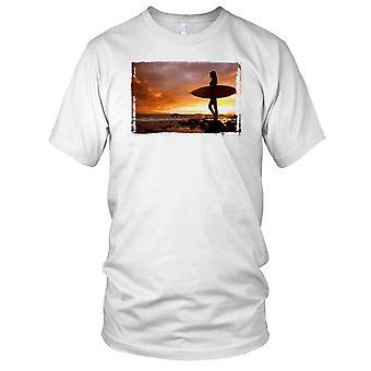 Surfer Girl Makena zachód Panie T Shirt