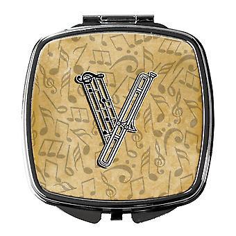 Buchstabe V Musikinstrument Alphabet Taschenspiegel