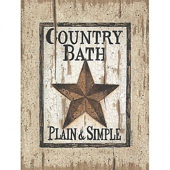 Country Bath Poster Print by Linda Spivey (12 x 16)