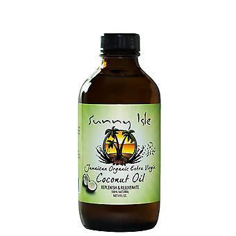 Sunny Isle Jamaican Organic Extra Virgin Coconut Oil 4oz