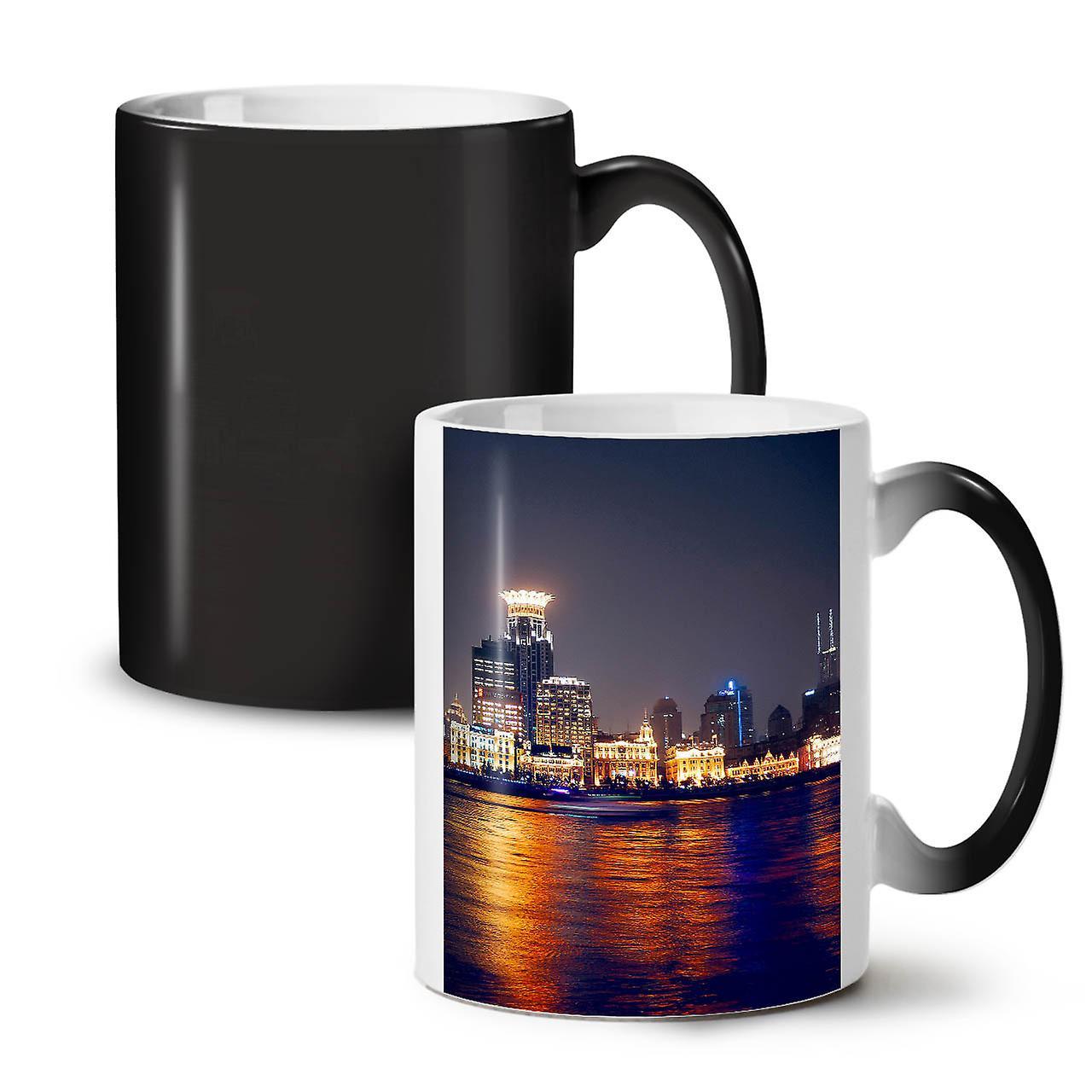 Nouvelle Tasse 11 Couleur Noir Thé Céramique Skyline City OzWellcoda Sky Café Changeant dCWBexor