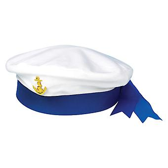 Adult White Sailor Hat Fancy Dress Costume Accessory