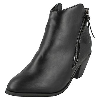 Kære plet på Cowboy stil ankelstøvler med lynlås detaljer