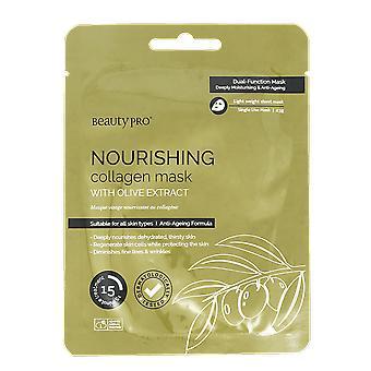 Pro nutriente collagene foglio maschera di bellezza con oliva Estratto 23g