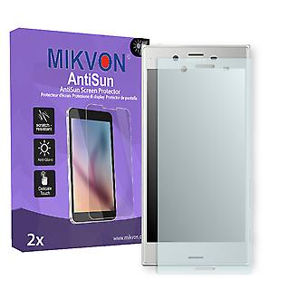 Sony Xperia XZ Premium Screen Protector - Mikvon AntiSun (Retail Package with accessories) (intentionally smaller than the display due to its curved surface)