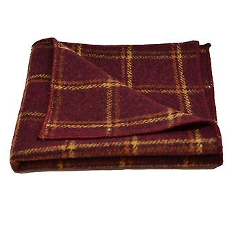 Heritage Warm Red Check Pocket Square, Handkerchief
