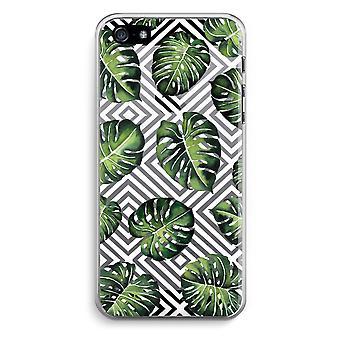 iPhone 5/5 s ・ SE 透明ケース (ソフト) - 幾何学的なジャングル