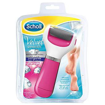 Scholl Velvet Smooth Diamond Crystals Electric Pedi Foot File