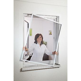 Fly screen protection from insects window Kit flush 130 x 150 cm in white - low installation depth