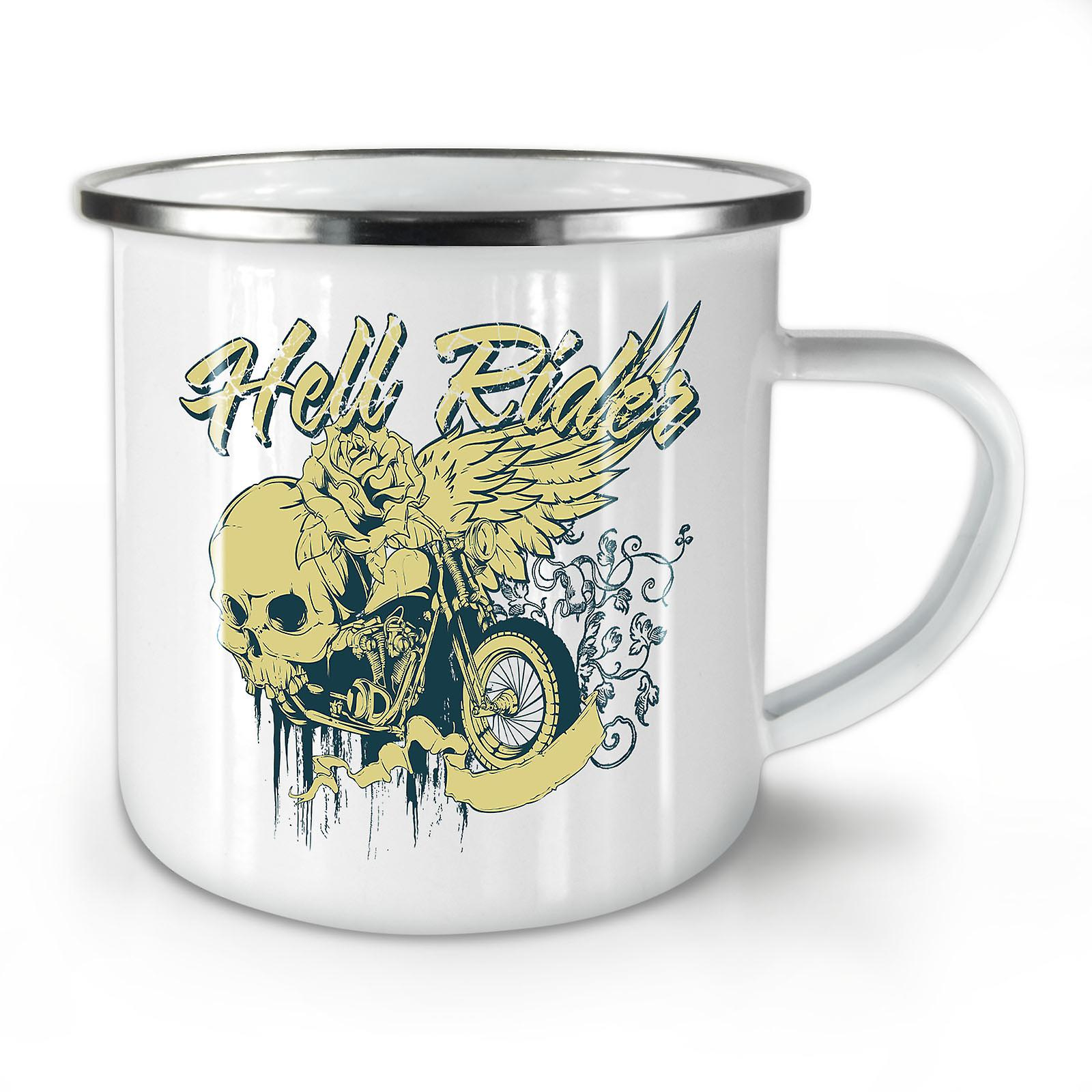 Mug10 In Enamel Metal OzWellcoda Coffee Riding Biker New Whitetea Hell PkwX8nON0