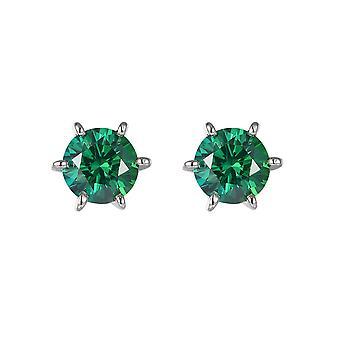 Green Zirconia en zilver 925 Swarovski crystal oorbellen