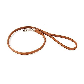 Round Leather Lead Tan 90cmx8mm