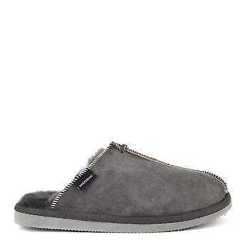 Shepherd of Sweden Mens' Hugo Asphalt Suede Slipper
