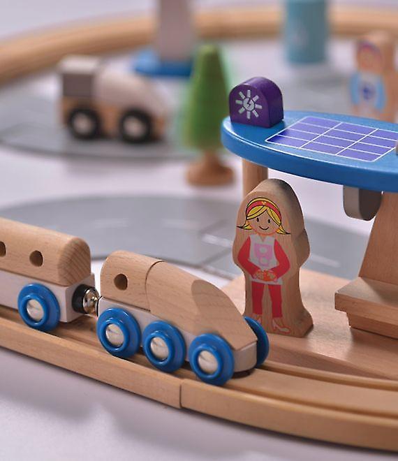 Everearth 50 pièce Eco City Train Set