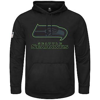 Majestic HEATHLY Hoody - black NFL Seattle Seahawks