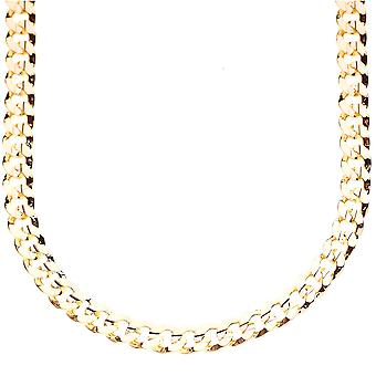 Iced out bling hip hop chain - CUBAN 6 mm gold