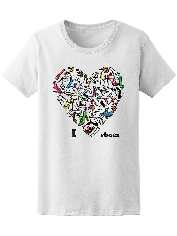 Fashion I Women's Love Shoes Heart Tee Women's I -Image by Shutterstock 6126b1