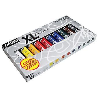 Farba olejna XL Pebeo Studio + 1 szczotka zestaw 10 x 20ml