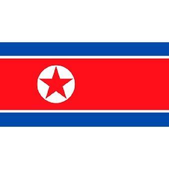 Nordkoreanske flagget 5 ft x 3 ft med hull For hengende