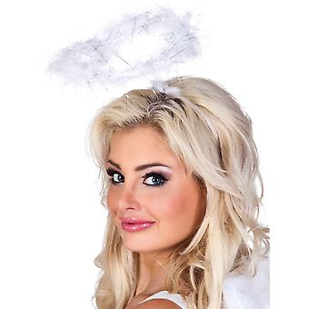 Boland White Angel Feather Halo Headband Halloween Fancy Dress Accessory